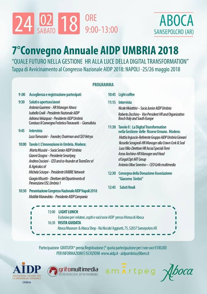 programma evento AIDP Umbria